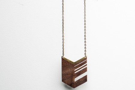 Feathered Chevron Necklace