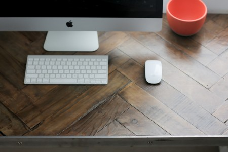 Herringbone Pallet Wood Desktop