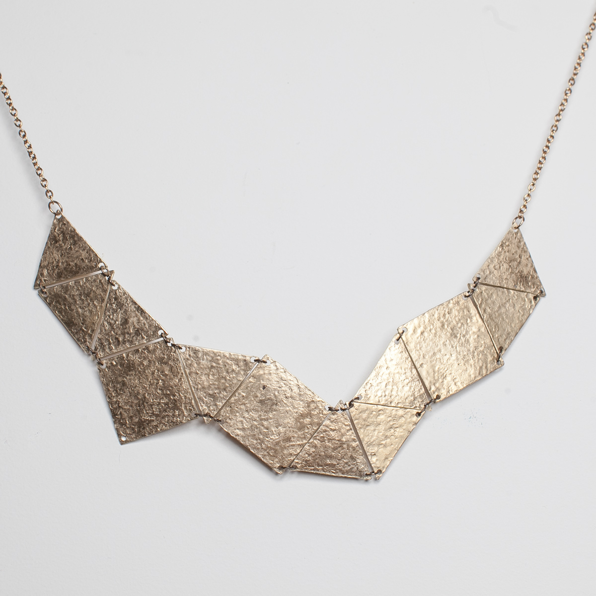 Tri-Sq. Plate Necklace