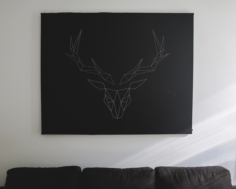 String Antler Canvas